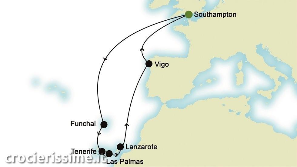 ISOLE CANARIE E ATLANTICO da Southampton