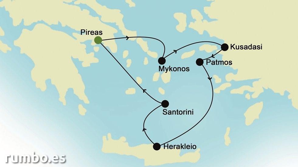 ISLAS GRIEGAS Y MEDITERRÁNEO ORIENTAL  desde Atenas (Grecia)