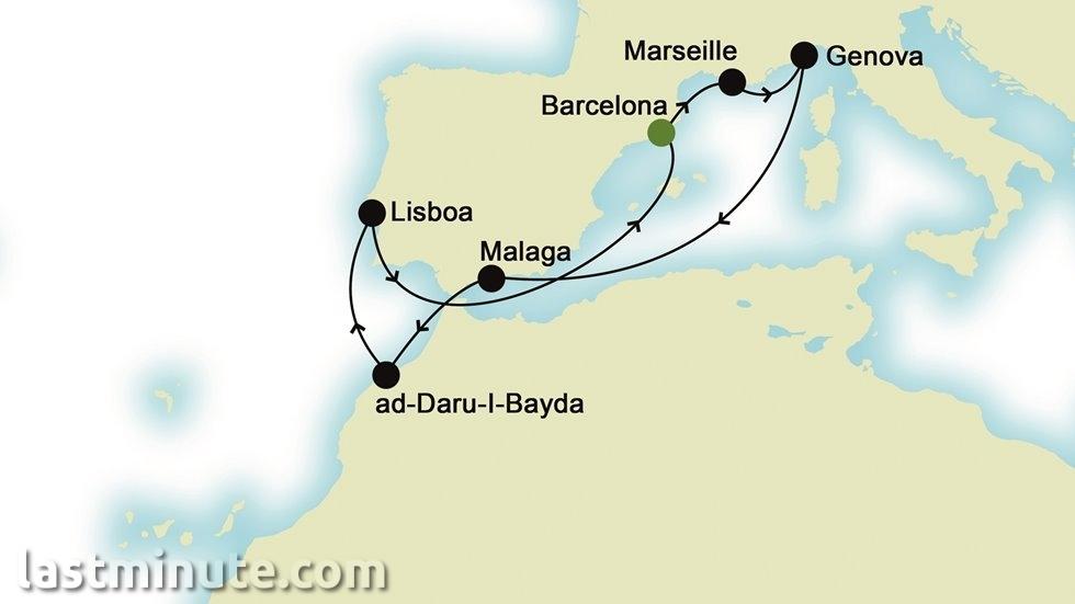 MÉDITERRANÉE au départ de Barcelone
