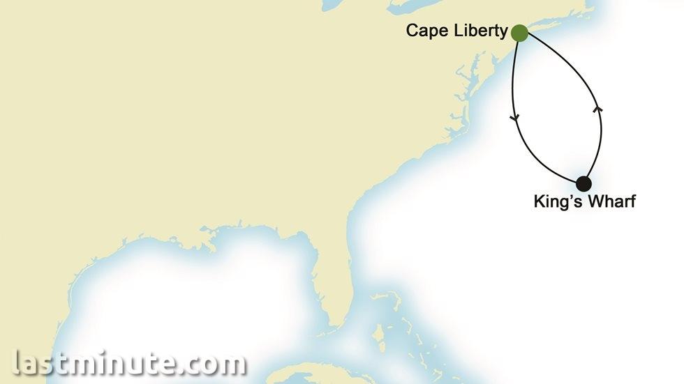 CANADA ET ÉTATS-UNIS au départ de Cape Liberty