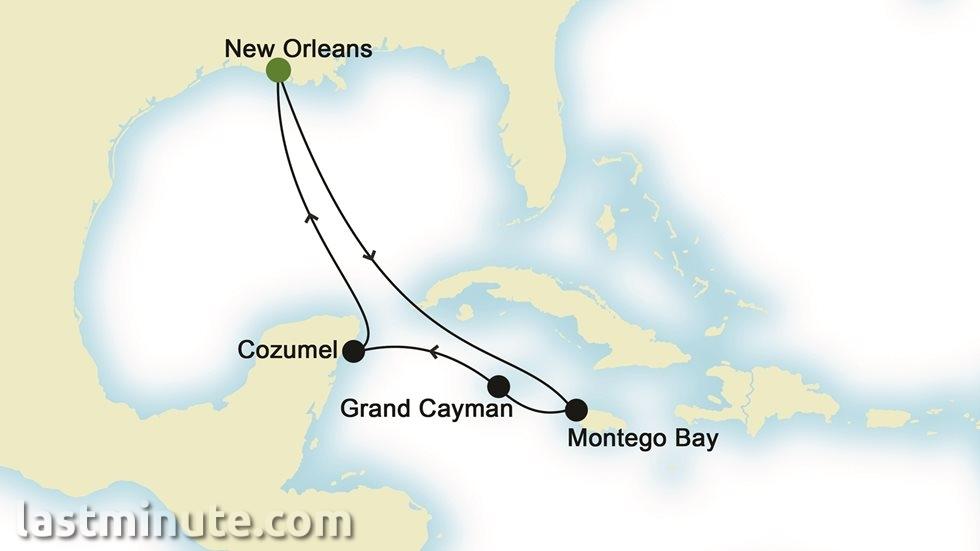CARAÏBES au départ de La Nouvelle-Orléans