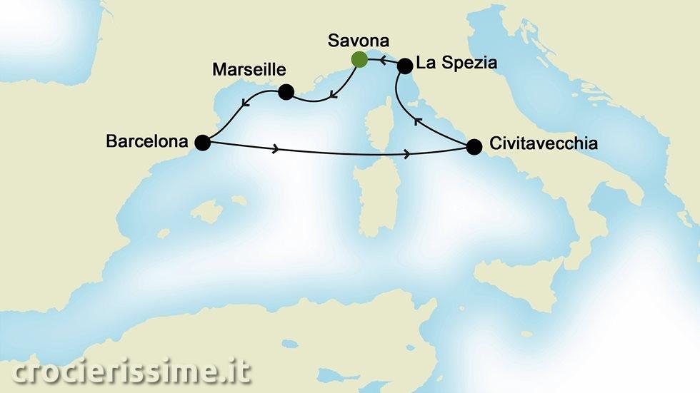 MEDITERRANEO OCCIDENTALE da Savona