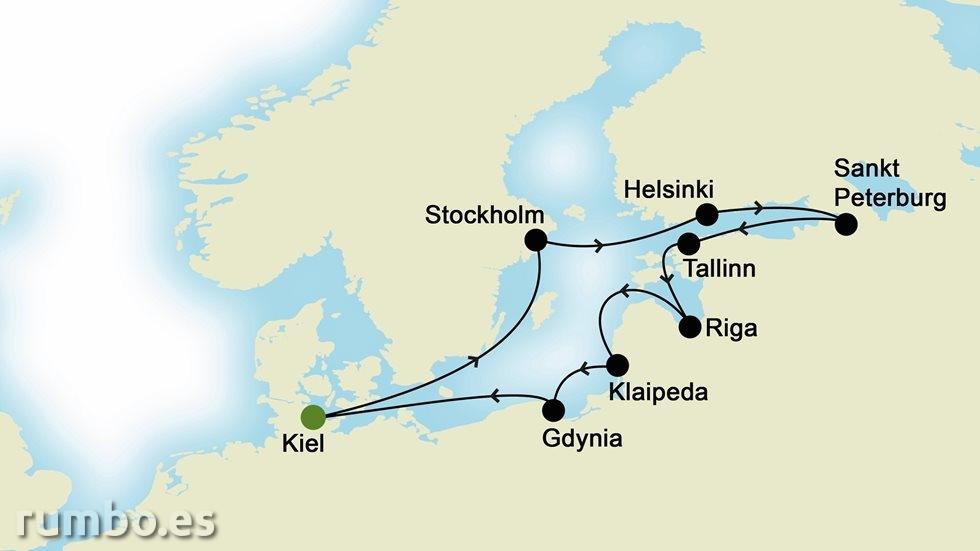 CAPITALES BÁLTICAS desde Kiel