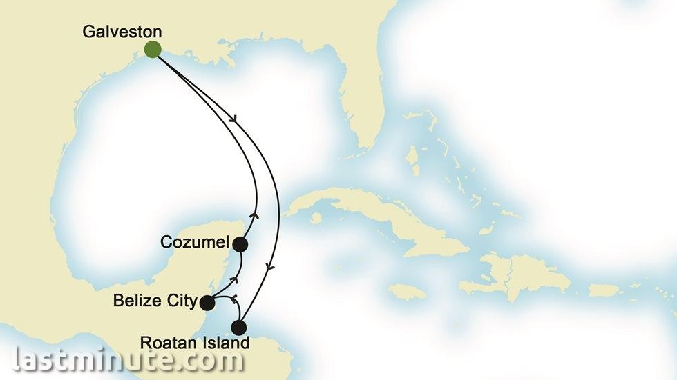 ÎLES CARIBÉENNES au départ de Galveston