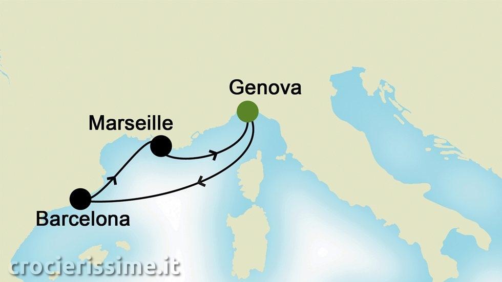 MEDITERRANEO OCCIDENTALE da Genova