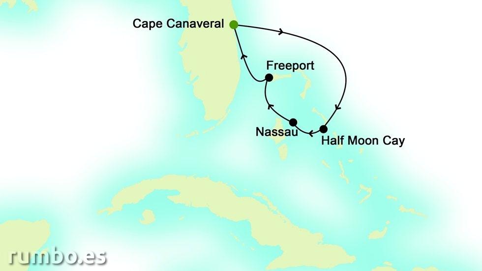 BAHAMAS desde Puerto Cañaveral (EE.UU)