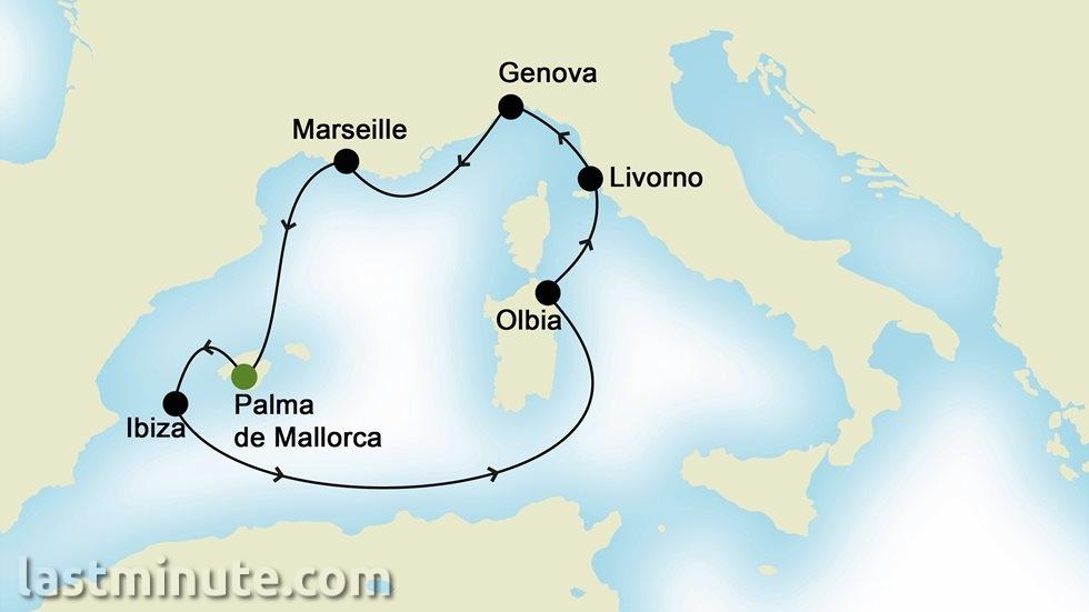 MÉDITERRANÉE OCCIDENTALE au départ de Palma de Majorque