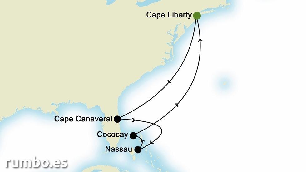 ISLAS DEL  CARIBE desde Cape Liberty